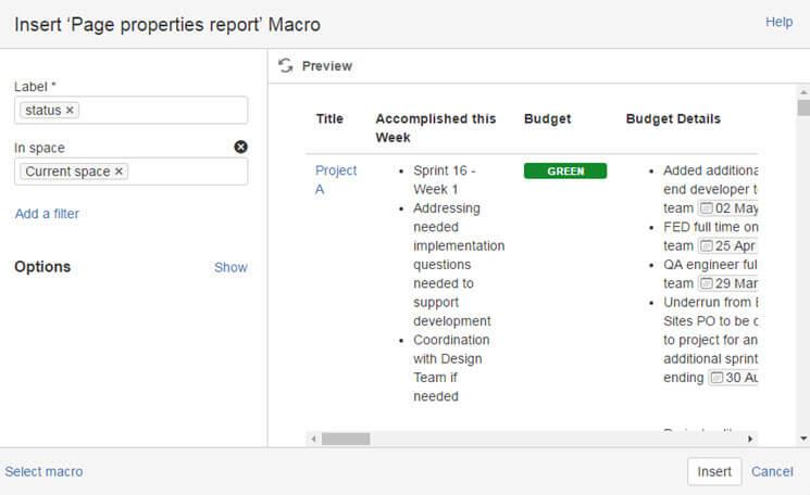 Atlassian Confluence Tutorial  Build a Project Portfolio Dashboard