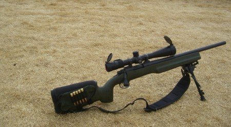Rick's Remington 700 Varmint in a Bell and Carlson OD Green Stock
