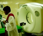 SLH's CT Scan machine, shown here being blessed and inaugurated by Tacurong's parish priest.