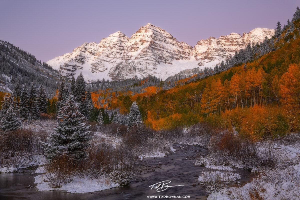 Free Fall Wallpaper Pics Snowy Maroon Bells Aspen Colorado Colorado Mountain