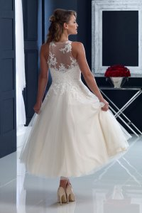 House of Nicholas 2204  Appliqud lace over tulle T ...