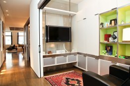 TV Room - Cabinetry was built specifically for this area. The television is mounted on a stainless steel track system.