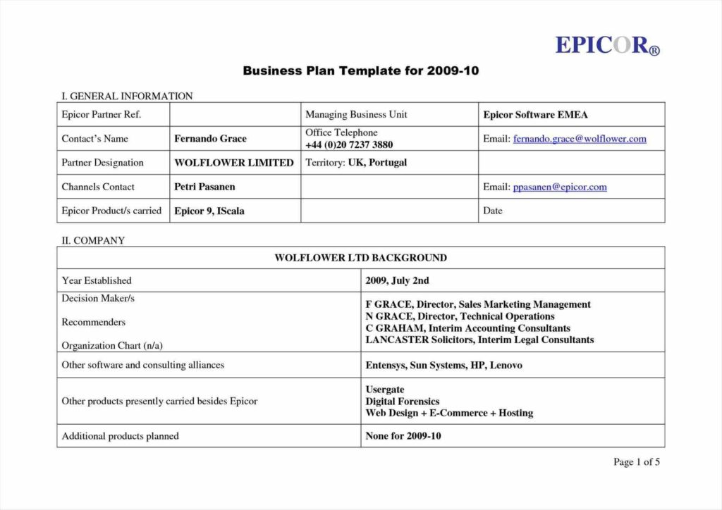 Business Plan Spreadsheet Template and Templates Business Plan