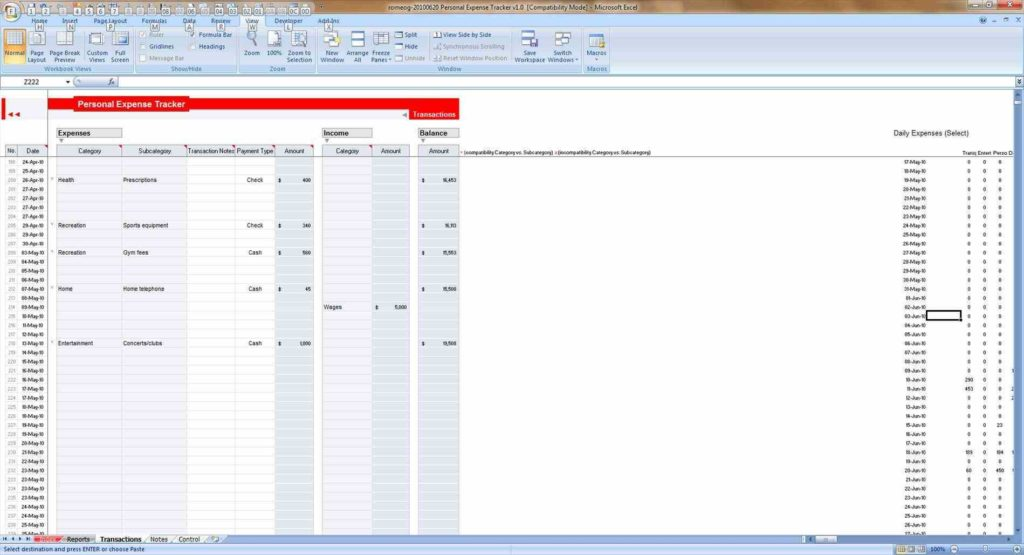 Download Expense Report Template and Expense Reports Free Templates