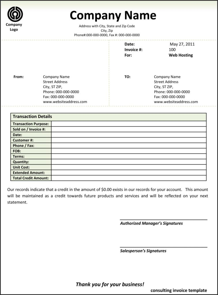 Electrical Contractor Invoice Template and Contractor Invoice