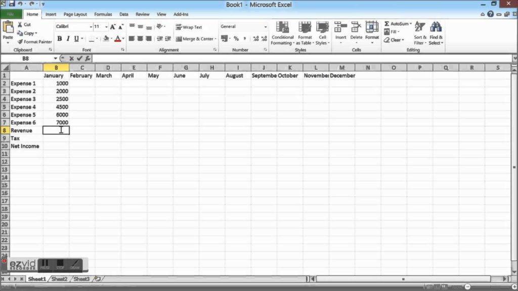 Financial Spreadsheet for Small Business - Tagua Spreadsheet Sample