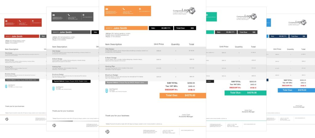 Invoice Template for Designers and Letterhead and Invoice Layout