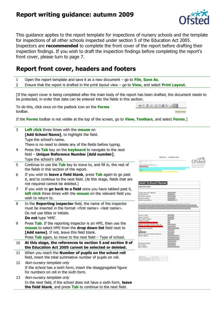 Site Inspection Report Sample - Tagua Spreadsheet Sample Collection