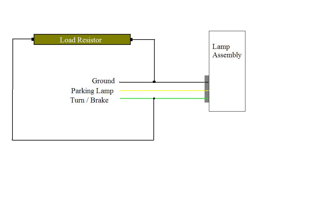 led autolamps load resistor wiring diagram
