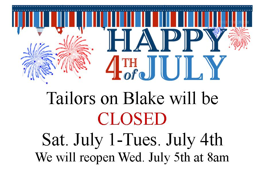 4th Of July Closing Sign dnio