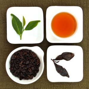 The four states of 2005 Songboling Aged Oolong Tea, Lot 135