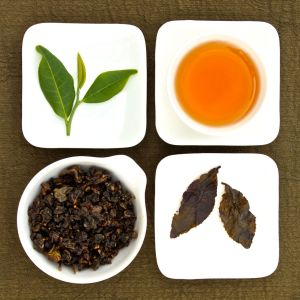 The four states of Baguashan Gui Fei Oolong Tea