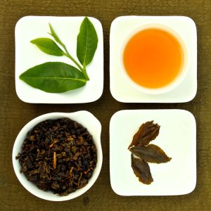 The four states of Fancy Formosa Oolong Tea, Lot 114