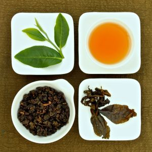 The four states of Mingjian Charcoal Roasted Oolong Tea, Lot 112