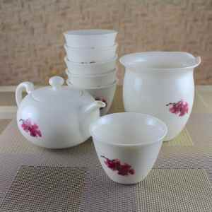 Elegant Tea Set with Sakura Motif Group