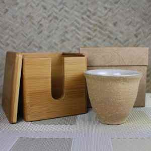 Pumice Clay Craquelure Rose Large Tulip Cup Gift Set