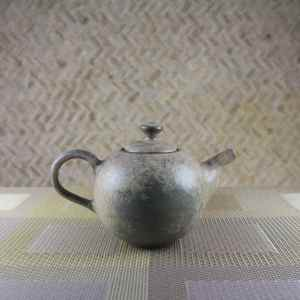 Moondust Sage Round Teapot Side View