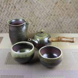 Wood Fired Kyusu Tea Set for 2 Featured