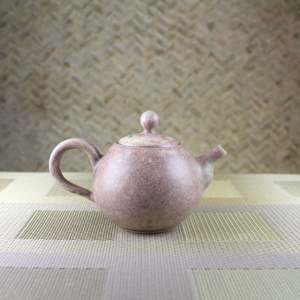 Sea Mist Rose Smaller Round Teapot Side View-2