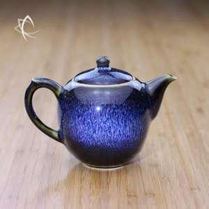 Blue Hare's Fur Mei Ren Jian Teapot Featured View