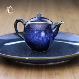 BlueHare's Fur Mei Ren Jian Teapot and Large Plate Set