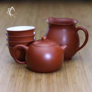 Bigger Xi Shi Red Clay Teapot with Pitcher and Cups