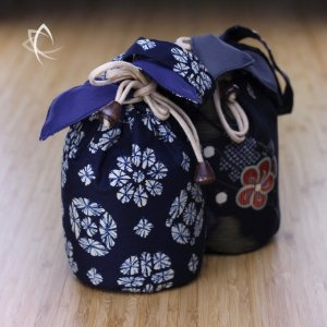 Larger Drawstring Padded Pouch Pair Featured View