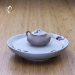 Plum Blossom Ru Glaze Tea Boat