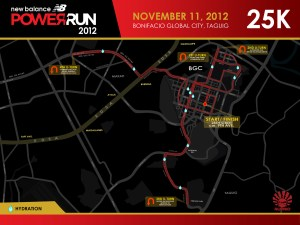 NB Power Run 2012 25K Race route