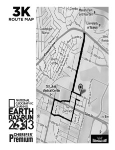 Earth Day Run 3K Map
