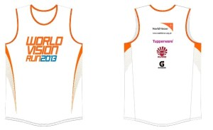 World Vision Run 2013 Singlet