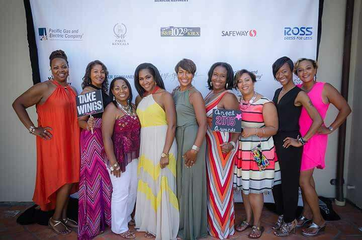Terri J. Vaughn pictured with sister Tracy Ward and other guests.
