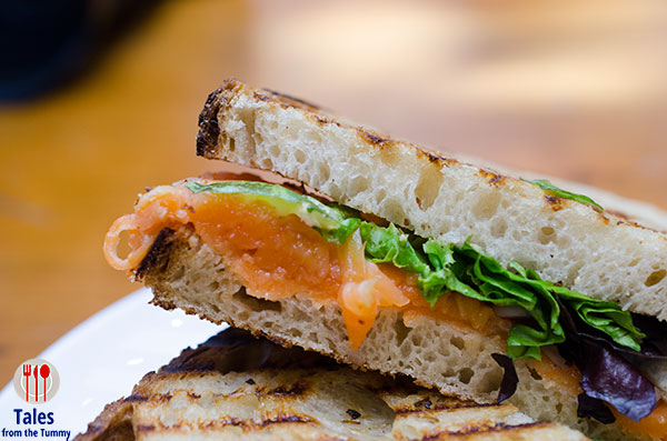 Smoked Salmon Sandwiches With Curried Almonds Recipe ...
