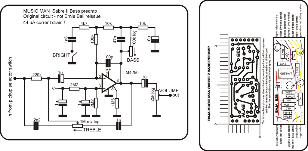 preamp output jack wiring