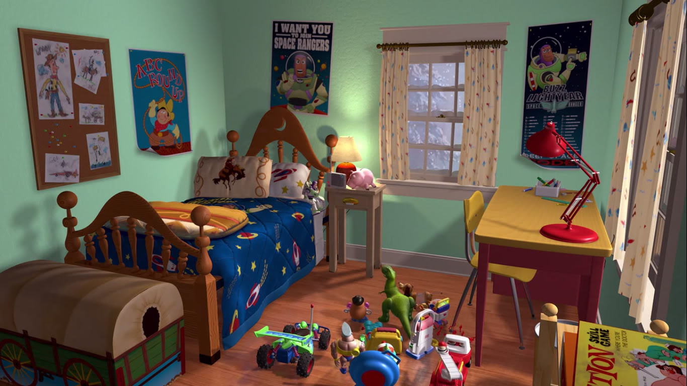 Pixar Cars Bedroom Wallpaper Is Disney Building Andy S Room From Toy Story At Wdw