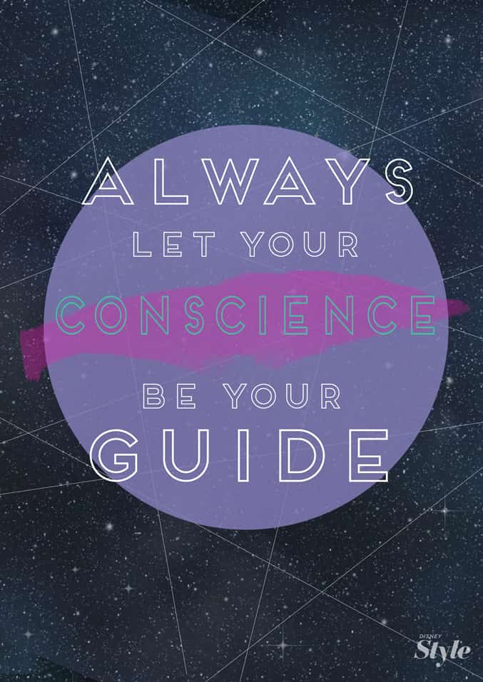 let your conscience be your guide quote