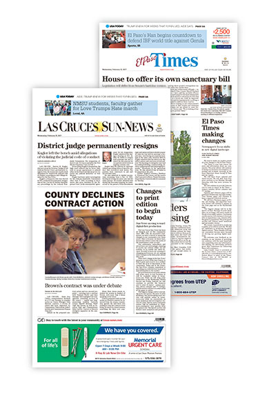 Four Gannett newspapers in the Southwest announce they will be