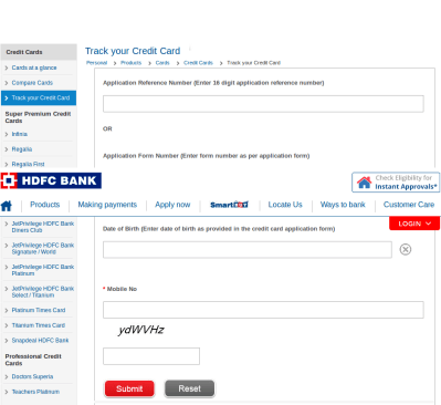 HDFC Bank Credit Card Application Status – How to Check?