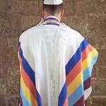 Gabrieli Tallit with rainbow stripes