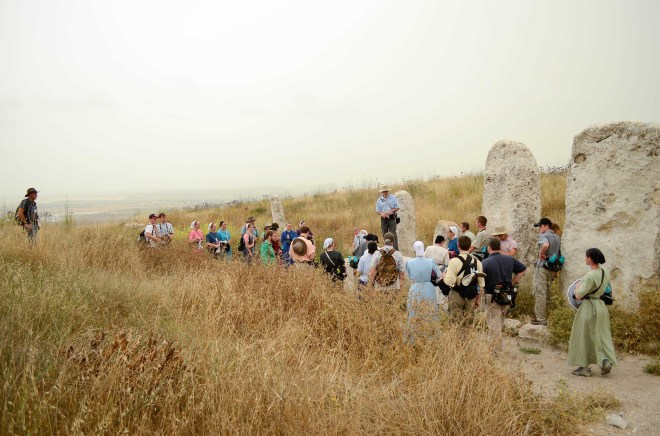 Standing stones at the city of Gezer