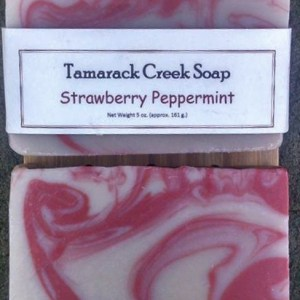 Strawberry Peppermint Scented Soap Bar