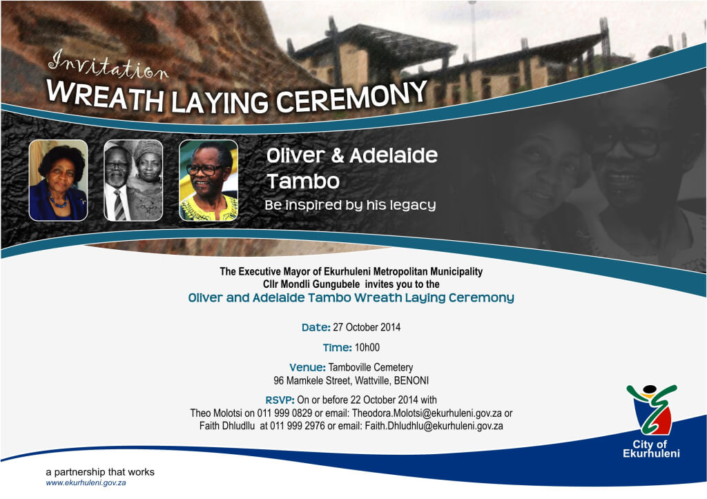 Electronic invite - Wreath Laying
