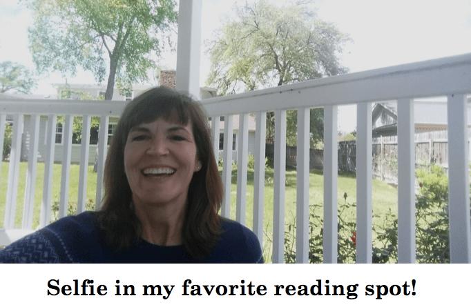 selfie in my favorite reading spot