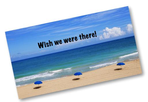 Beach Scene --wish you were there!