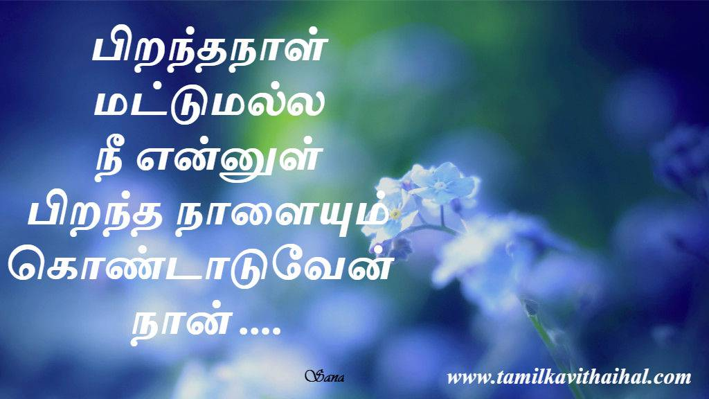 Download Romantic Wallpaper With Quotes Love Birthday Nee Ennul Piranthanal Kondattam Wishes For