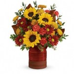 T17T210C-Sunshine Crock Bouquet