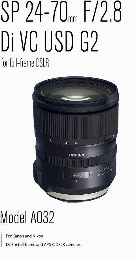 TAMRON SP 24-70mm F/28 Di VC USD G2