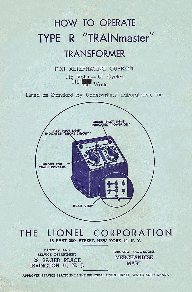 Lionel Type R Wiring Diagram Wiring Schematic Diagram