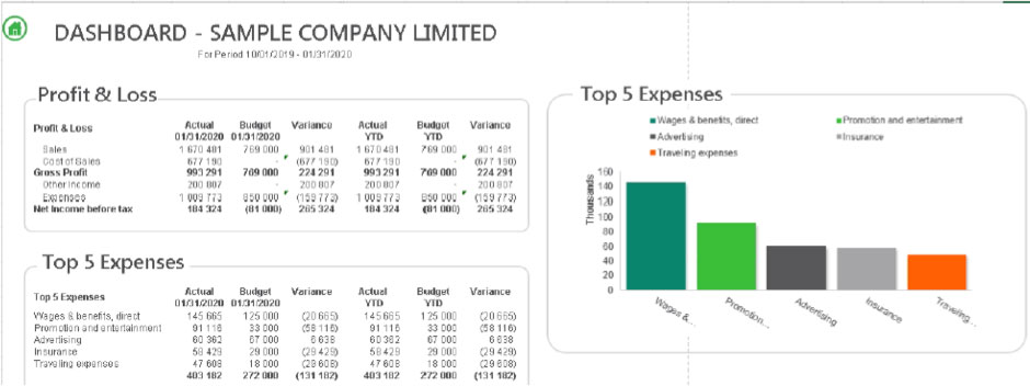 Sage Intelligence \u2013 5 Standard Report Examples - Tandem Technologies - analysis report sample