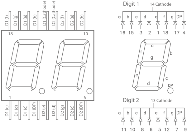 for the 2digit 7segment display circuit click for larger image